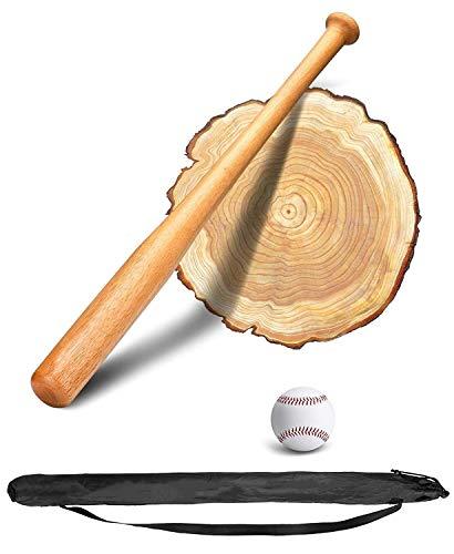 PLUSINNO 28 Zoll Baseballschläger mit Baseball (Holz)