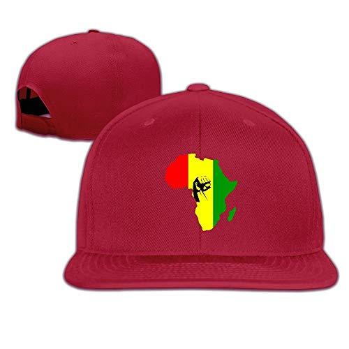Vidmkeo Africa Power Rasta Reggae Unisex-Verschlusskappen mit verstellbarem Verschluss Fashion18