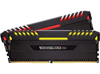 Corsair Vengeance RGB 16 GB (2 x 8 GB) DDR4 3000 MHz C15 XMP 2.0 Enthusiast RGB LED Illuminated Memory Kit - Black