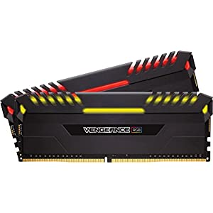 Corsair Vengeance RGB 16 GB (2 x 8 GB) DDR4 3466 MHz C16 XMP 2.0 Enthusiast RGB LED Illuminated Memory Kit - Black