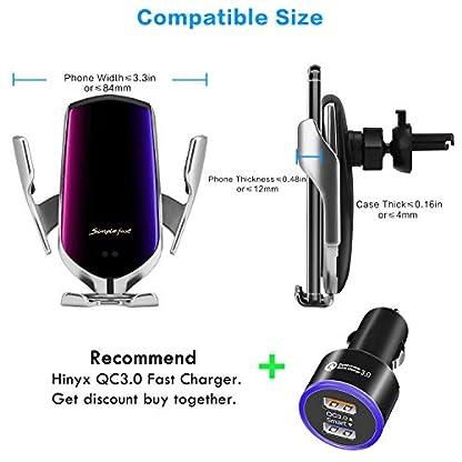 Hinyx-Kabelloses-Auto-Ladegert-2-in-1-Qi-10-W-Schnellladung-Automatisches-Spannen-Auto-Entlftung-Halterung-Handyhalter-fr-Samsung-Galaxy-S9S9S8S8Note-85-Apple-iPhone-88-PlusXXSMaxXR