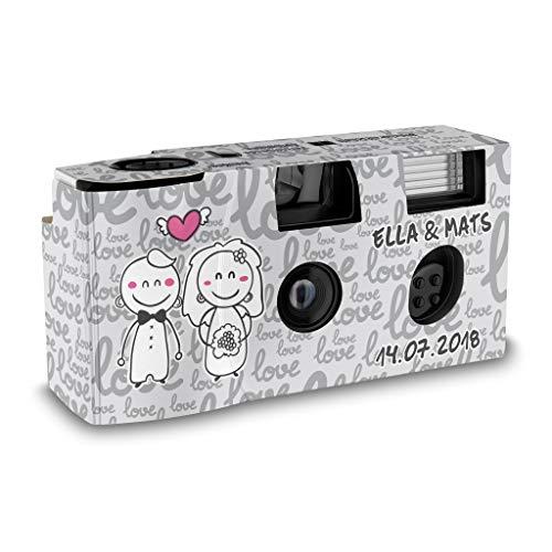 Hochzeitskamera Einwegkamera Happy Bride and Groom mit Personalisierung