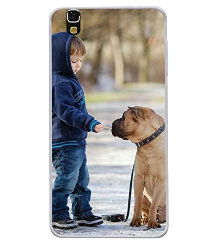 Bluethroat A Cute Baby Boy Feeding A Bull Dog Designer Printed Soft Silicone Mobile Case Back Cover for Yu Yureka 5510