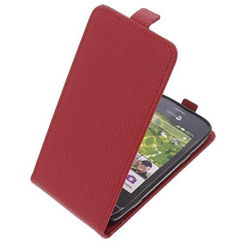 foto-kontor Tasche für Doro Liberto 820 Smartphone Flipstyle Schutz Hülle rot