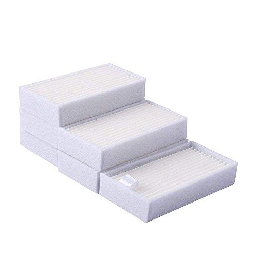 KEEPOW® Kit de Filtre HEPA Pour ILIFE V5s V5 V3s V3 Pro, Brosses Latérales et Lingette(6 filtre, 6 Lingettes et 8 brosses latérales)