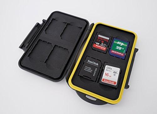 Ares foto® mc-sd8 custodia protettiva per schede sd / immagazzinaggio resistente all'acqua per 8 sd carte