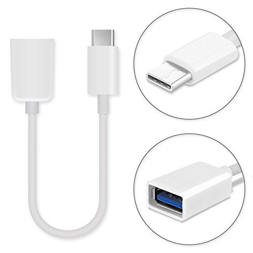 subtel Cable USB OTG Compatible con Xiaomi Mi 9/8 / Mi 8 Lite/Mi 8 Pro/Mi 6 / Mi 5 / Mi Mix 3 / Mi Mix 2 / Mi Mix 2s / Mi A2 / Mi A3 / Mi MAX 3 - Adaptador OTG (Cable Conector USB C (Type C), 15cm)