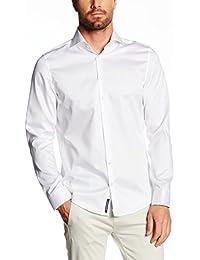 JACQUES BRITT Herren Hemd Slim fit Blue Label 1/1-Arm Bügelleicht Uni / Uniähnlich Businesshemd Manschette weitenverstellbar