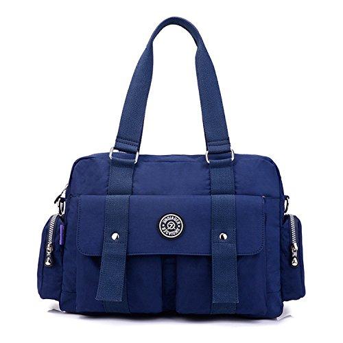Foino Schultertasche Damen Handtasche Lässige Umhängetasche Leichter Kuriertasche Wasserdicht Taschen Messenger Bag Mode Sporttasche für Reisetasche Blau 1
