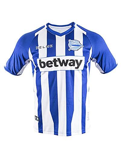 KELME Camiseta ALAVES 1ª EQUIPACION 18/19 fútbol, Unisex Adulto, Blanco/Azul, M