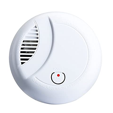 Smoke Alarm, TopElek Battery Operated Fire Detector, Smoke Detector with Newest Photoelectric Sensor for Home House Bedroom Living Room Hotel School Warehouse ect. (1-Pack) - CE & RoHS