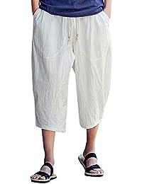 2019 Männer Frühling Und Sommer Mode-trend Der Männer Baumwolle Einfarbig Dünne Beiläufige Leinen Hosen Strand Strand Camping Super Herrenbekleidung & Zubehör