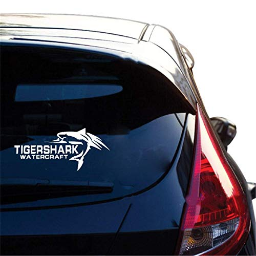 Auto Racing Aufkleber Tiger Shark Watercraft Fish Auto Aufkleber decken die Scratch Dekoration Decals Zubehör für Auto Laptop Fenster Aufkleber