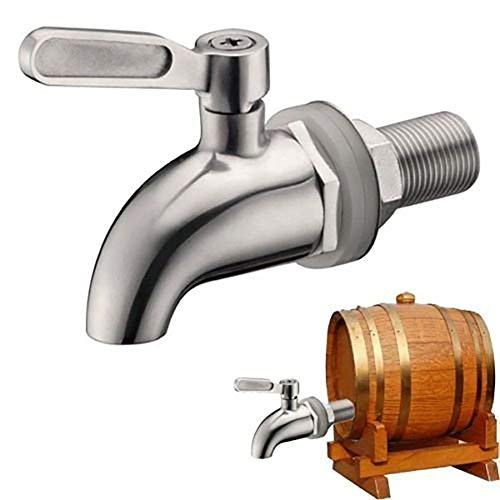 Outtybrave 304 Edelstahl Wasserhahn für Home Brew Barrel Fermenter Saft Spigot Getränke Kühlschrank Fässer - Saft Fässer