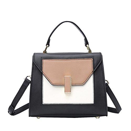 Plattierte A Yy Die Handtaschen Mehrfarben Quadratischem Handtasche Handtaschen Leder Aus Farbe Querschnitt f Handtaschen Schlug Abdeckungsart Boden Lederhandtaschen AHwYxFSH