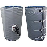 D&F Calentador de Banda de Tambor Aislado Incluye Digital Ajustable Controlador termostático 53 galones / 200 litros Grasa Calentador de Barril