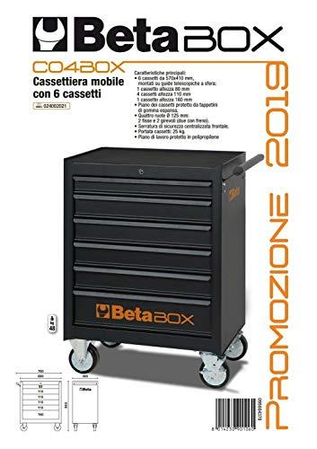 HIMAG Fuori Tutto Carrello Portautensili Beta CO4BOX con 6 cassetti