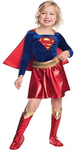 DMMDHR Halloween Neue DeluxeFrau Film Kostüm für KinderKleid superheld Thema Halloween Kostüm für (3-9 Jahre) Mädchen Party Kleid, Supergirl 3 STÜCKE, - Deluxe Supergirl Kind Kostüm