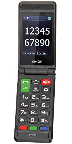 Switel M228 3G Komfort-Klapphandy mit SOS-Notruftaste, großem Display, Hörgerätekompatibel und Drei Direktwahltasten