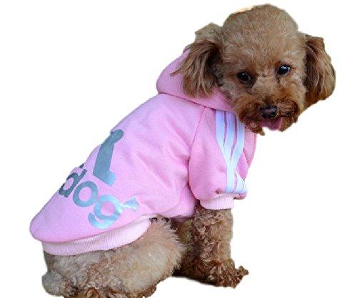 Ducomi Adidog - Sudadera con Capucha para Perros en Algodón Suave - Costuras Resistentes - Disponibles de XS a 8XL - Se envía Desde España (M, Rosa)