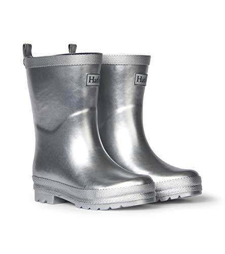 Hatley Kids Shiny Rain Boots - Silver Shimmer