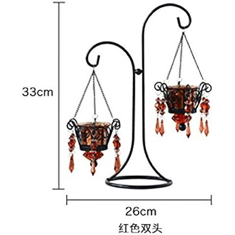 Candeliere in ferro battuto di stile europeo a lume di