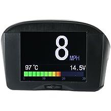 Alarma multifunción digital para coche OBD HUD, de Autool X50Plus, medidor de velocidad y temperatura de agua, con pantalla de visualización HeadUp OBD, pantalla de ordenador de conducción