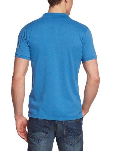 JACK & JONES Herren Poloshirt Slim Fit 12066447 FRENCH POLO S/S ORG Blau (FEDERAL BLUE)