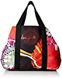 Desigual Poppy Flower Medina Shopping Bag Negro