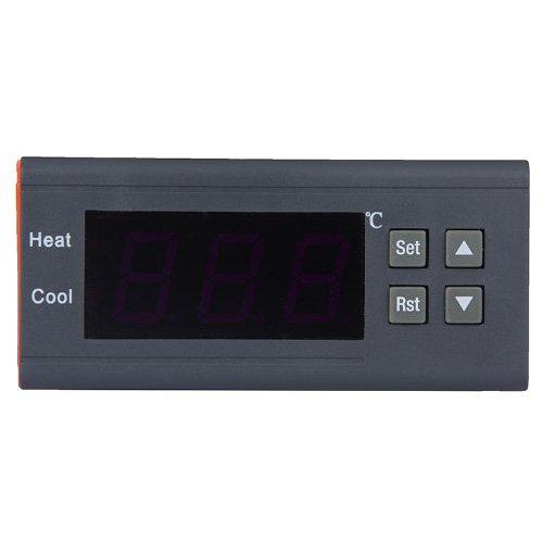 TOOGOO(R)Mini10A 12V Controleur de temperature numerique thermocouple -40 ¡æ a 120 ¡æ avec capteur pour reservoirs d'eau, refrigerateur, refroidisseurs industriels, chaudiere, vapeur, equipements industriels et d'autres systemes a temperature controlee