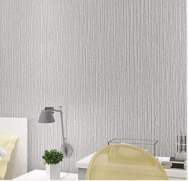 Yirenfeng Einfache Vertikale Gestreifte Tapete Vlies Selbstklebende Tapete Schlafzimmer-Kleidungsgeschäft Reine Farbtapete C