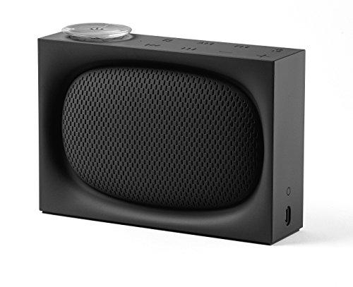 Lexon LA102N ONA, AM/FM Radio und wiederaufladbarer 4.0 Bluetooth-Lautsprecher Schwarz