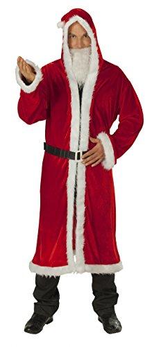 Kostüm Rubies Weihnachtsmann - Weihnachtsmann Mantel Nikolaus Santakostüm Weihnachtsmannkostüm Nikolauskostüm Kostüm Nicolaus Robe rot Rauschebart Samt weich Gr. STD