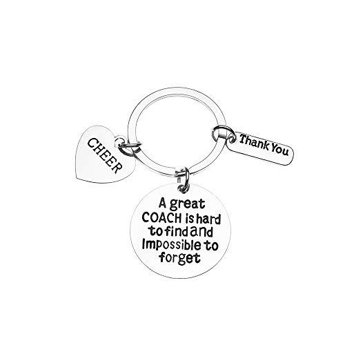 ach Geschenk - Cheerleading Coach Schlüsselanhänger - toller Coach ist schwer zu Finden, Aber unmöglich Schmuck für Cheerleader Trainer zu vergessen ()