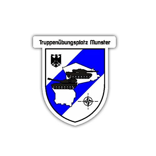 Copytec Aufkleber/Sticker - Truppenübungsplatz Munster Leopard Panzer Bundeswehr Wappen Abzeichen Adler 6x7cm #A1682