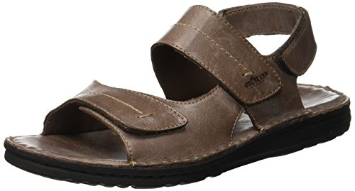 Grunland lapo, sandali con chiusura sul retro uomo, grigio (ebano eban), 43 eu
