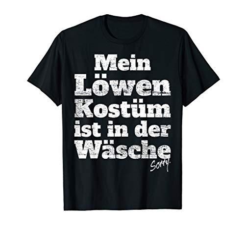 Herren Löwen Kostüm - Löwen Kostüm Ist In Der Wäsche Halloween Karneval Motto Löwe T-Shirt