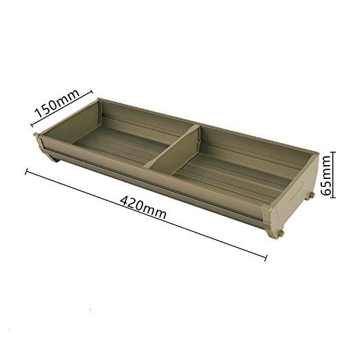 Organisateur/diviseurs tiroir extensible pour couverts, Boîte de rangement tiroirs de cuisine, art de la table plateau combinaison libre de stockage,42cm * 15
