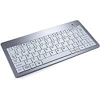Cooper Cases(TM) M50 Tastiera Bluetooth Wireless Universale per Tablet, Smartphone/TV e Laptop Mini in Bianco (Tastiera QWERTY Inglese Americana con 80 Tasti Stile Laptop; Connessione Bluetooth Wireless; Compatta, Formato Portatile) - Universale Mini Cooper