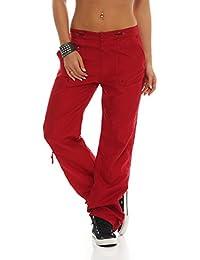 SUCCESS Pantalones de las señoras de la ropa de sport de carga pantalón chino pantalones de corte regular de ocio 5 de bolsillo