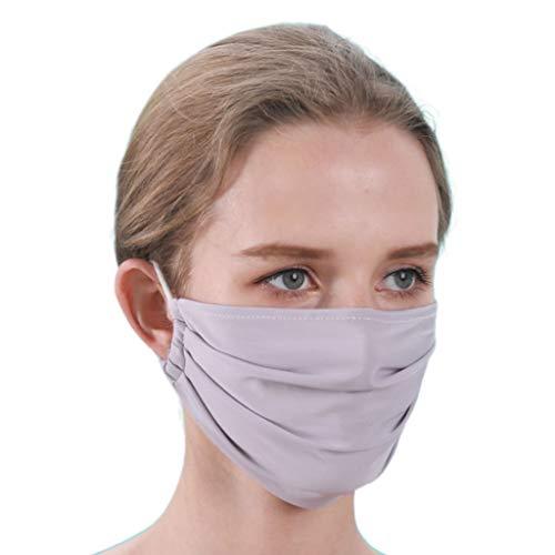 Tubicu Summer Ice Maske mit Ohrschlaufe, dünn, Sonnenschutz, offene Nase grau