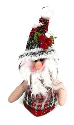 Regal Plüsch (Hanna's Handiworks Red Stechpalme Santa Plüsch Ornament Regal Sitter)