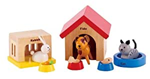 Hape - Happy Family Doll House - Furniture - Family Pets, Model: E3455, Jouets, jeux et lecture