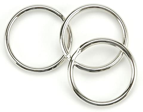 Tandy Leather Factory Nickel Split Key Rings-1.25-inch 10/Pkg, Other, Multicoloured