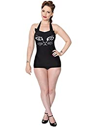 Banned Night Whispers Alternative Cat Swimsuit