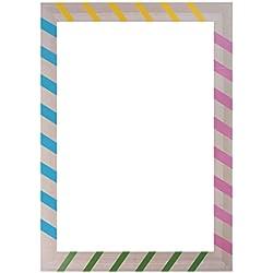 Sharplace Photo Booth Cornice Per Selfie Photos Frame Foto Props Abbellimento Ornamento Di Compleanno Nozze Graduazione Addio Al Nubilato - righe multicolori, 48 x 44 cm