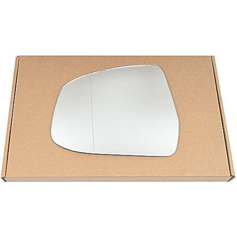 Gran Angular Izquierda passegner cristal de plata espejo retrovisor lateral para Ford Focus