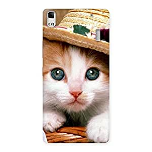 Gorgeous Premium Cute Hats Cat Multicolor Back Case Cover for Lenovo A7000