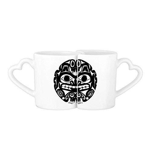 Fuwuxin home circle fear indian scheletro umano flamen priest sacrifice totem tattoo illustration modello lovers 'mug lover tazze set white ceramica ceramic cup latte tazza di caffè con manici