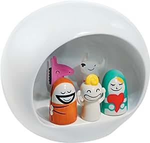 Alessi Presepe Figurines de Noël - Crèche de Noël en Porcelaine